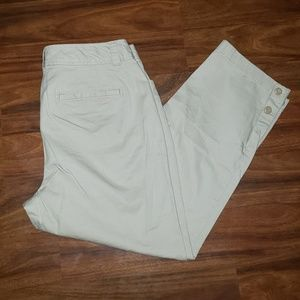 (Loft) Curvy Crop Pants